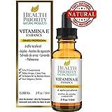 100% Natural & Organic Vitamin E Oil For Your Face & Skin - 15,000/30,000 IU - Reduces Wrinkles & Lightens Dark Spots. Mixed With Jojoba, Avocado & Rice Bran Oils. Liquid D Alpha Tocopherol Serum.