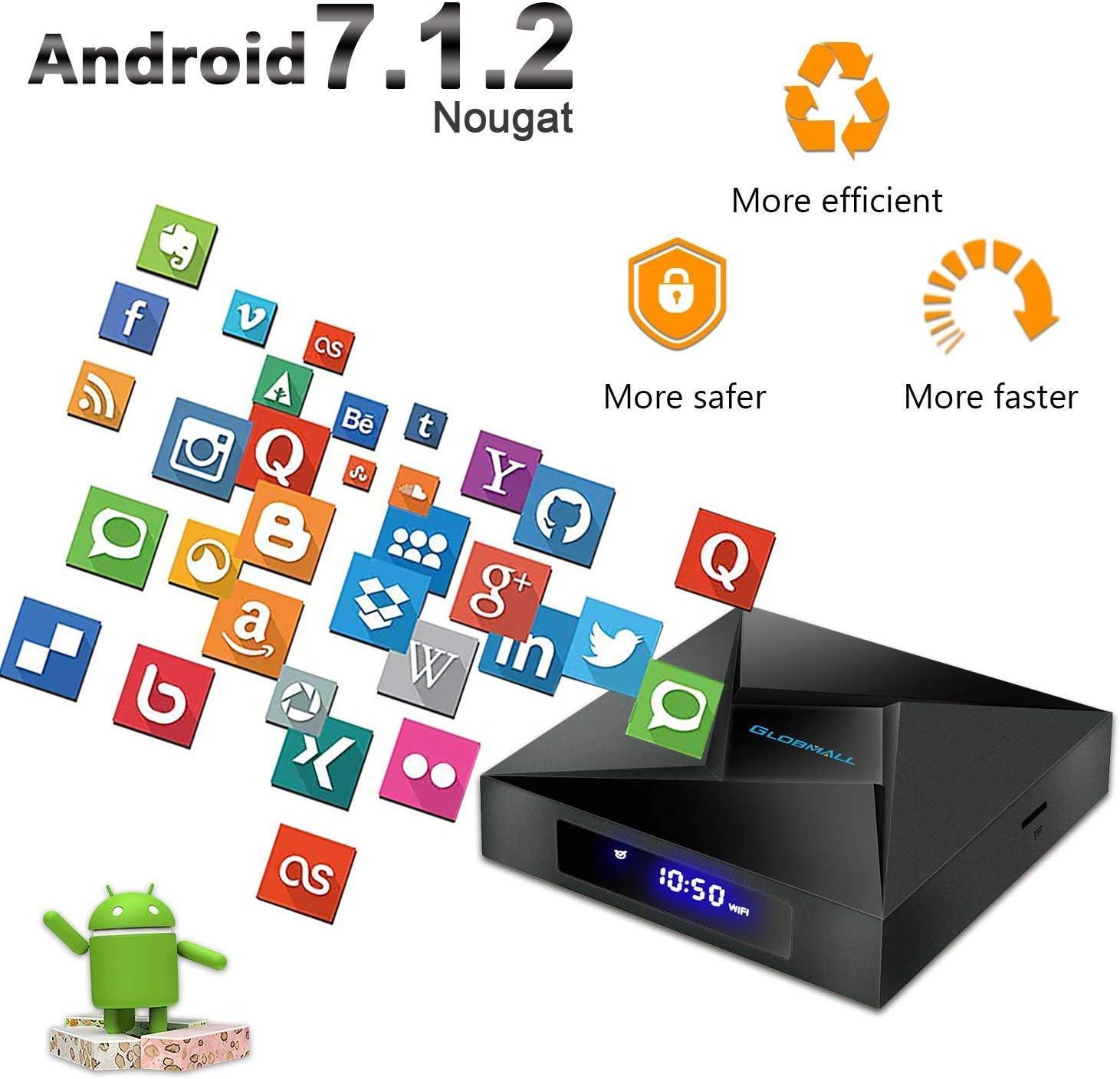 2017 Model glob Mall Android 6.0 Marshmallow Device T95 X Android TV Box Amlogic 64 bits y True 4 K Jugar: Amazon.es: Electrónica