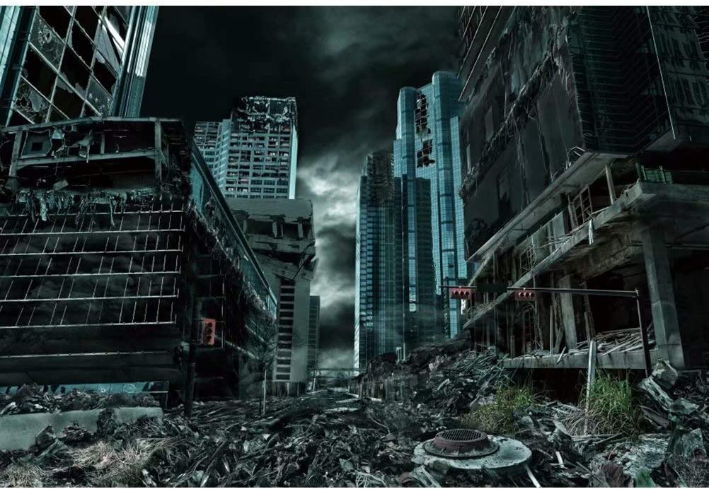 5x3ft Destroyed City Backdrop Abandoned City Ruins Background Collapsed Buildings Armageddon Natural Disaster Civil War Destruction Background Halloween Movie Film Video Studio Photography Amazon Ca Camera Photo