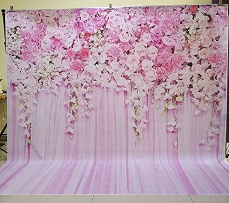 Amazon huayi pink flowers rose backdrop photography for huayi pink flowers rose backdrop photography for wedding floral flower wall photo booth background 8x8ft d mightylinksfo