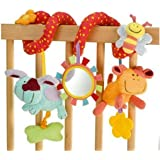 New Baby Cot Spiral Activity Hanging Decoration Baby Toys Cot Car Seat Pram Xmas Gifts Baby Boy