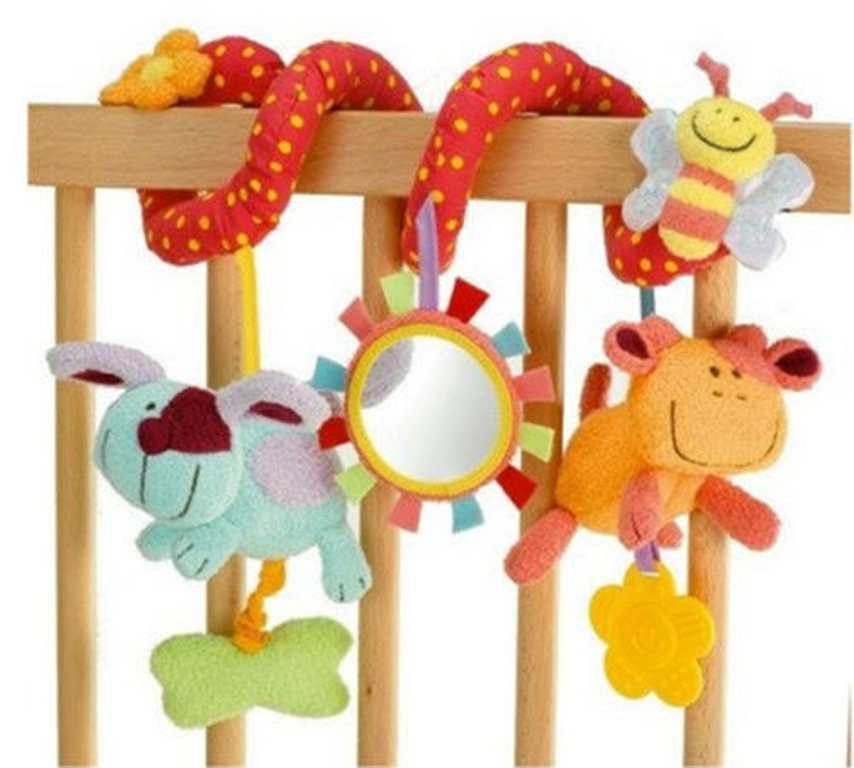 New Baby Cot Spiral Activity Hanging Decoration Baby Toys Cot Car Seat Pram Xmas Gifts Baby Boy by sfpong