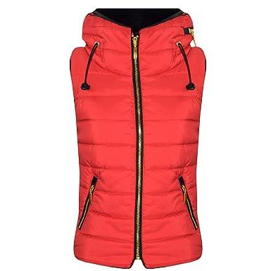 218d25452 A2Z 4 Kids® Kids Girls Boys Designer's Red Sleeveless Hooded Padded ...