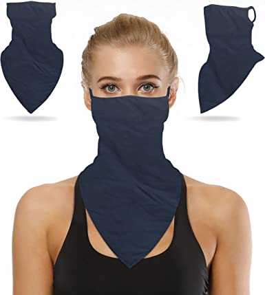 UV protection head neck cover face mask natural linen head cover