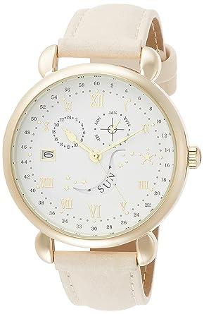 f3fe1691de [フィールドワーク]Fieldwork 腕時計 ファッションウォッチ ランカ アナログ 日付 曜日表示 革ベルト ホワイト