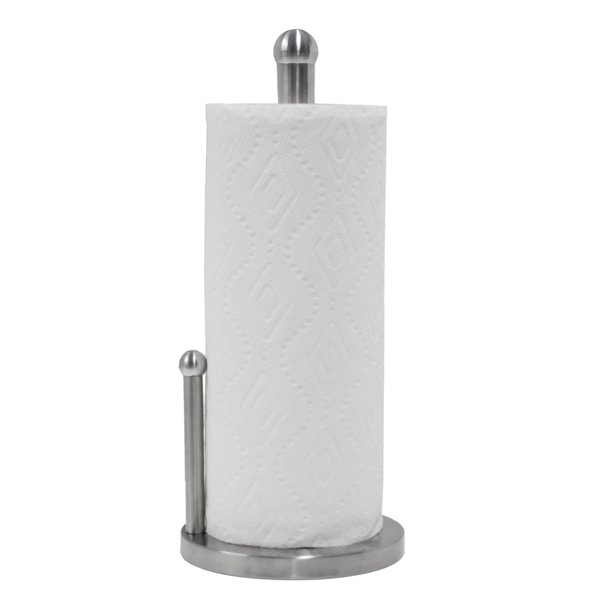 Oasis Collection Double Pole Stainless Steel Paper Towel Holder With Anti Slip Pad Base PH029861