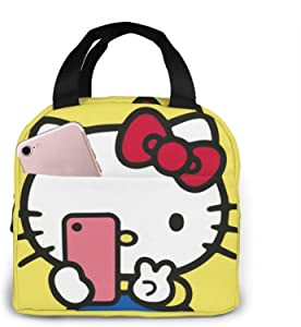 Hello Kitty Lunch Bag Tote Insulated Lunch Box Meal Prep Containers For Woman Kids