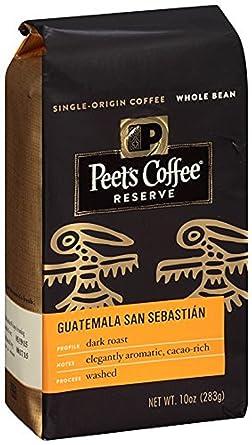 Peets Café, Reserva, Whole Bean Coffee, 10oz Bolsa (Pack de ...