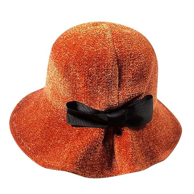 Elecenty Berretti da donna Cappelli Bowknot cappello pescatore donne  mantengono il cappello caldo 0a62eb6d1d72
