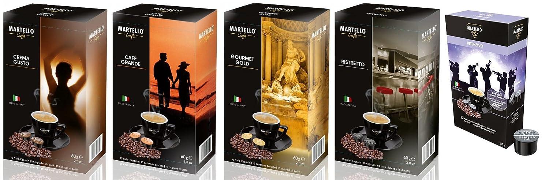 ITALICO Martello Cafetera de cápsulas Casco Lino incl. 50 Cápsulas: Amazon.es: Hogar