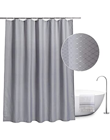 EurCross Waffle Shower Curtains Fabric Mildew Resistant Water Repellant Bathroom Curtain