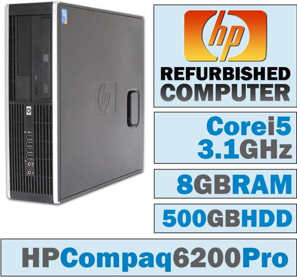HP Compaq 6200 Pro SFF/Core i5-2400 @ 3.1 GHz/8GB DDR3/500GB HDD/DVD-RW/No OS