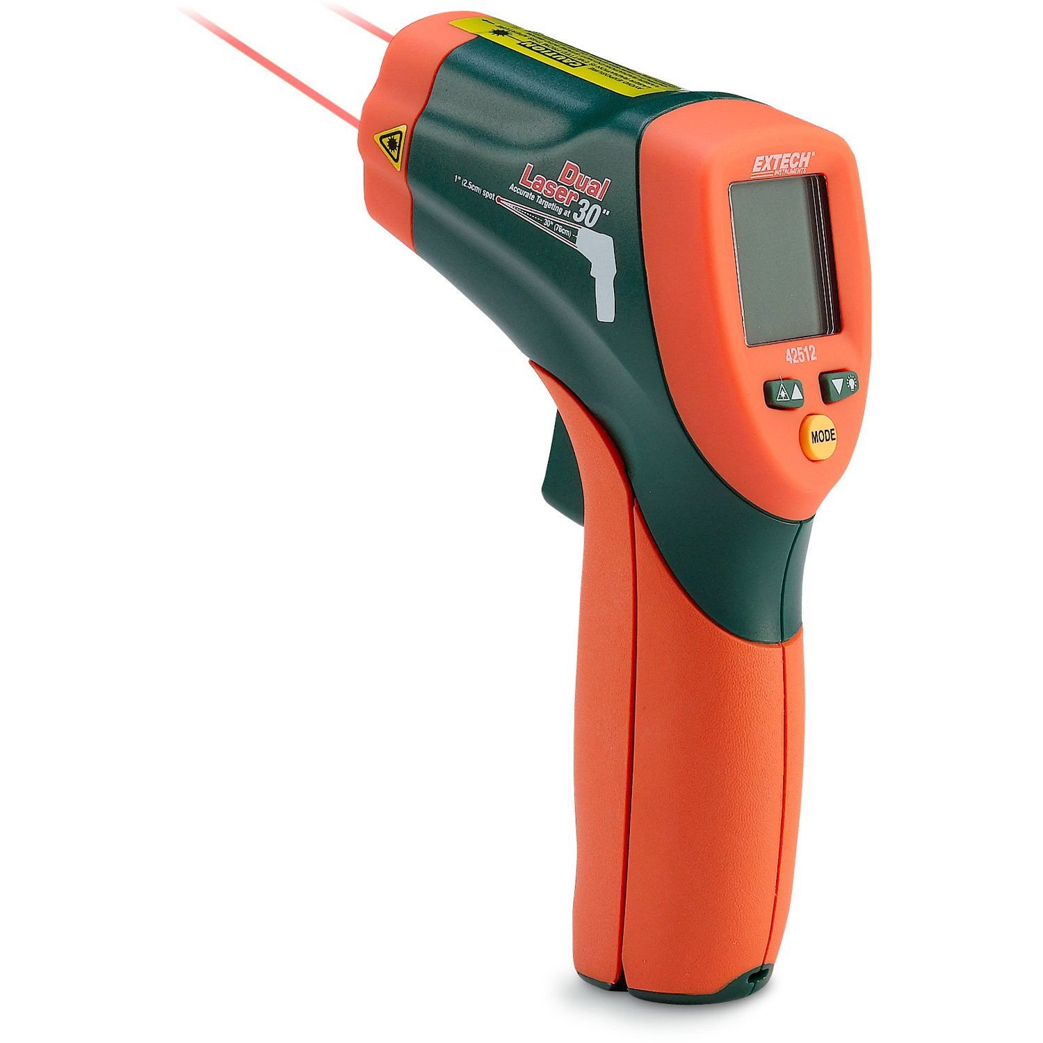 Extech Dual Laser IR Thermometer with NIST Certificate Model 42512-NIST