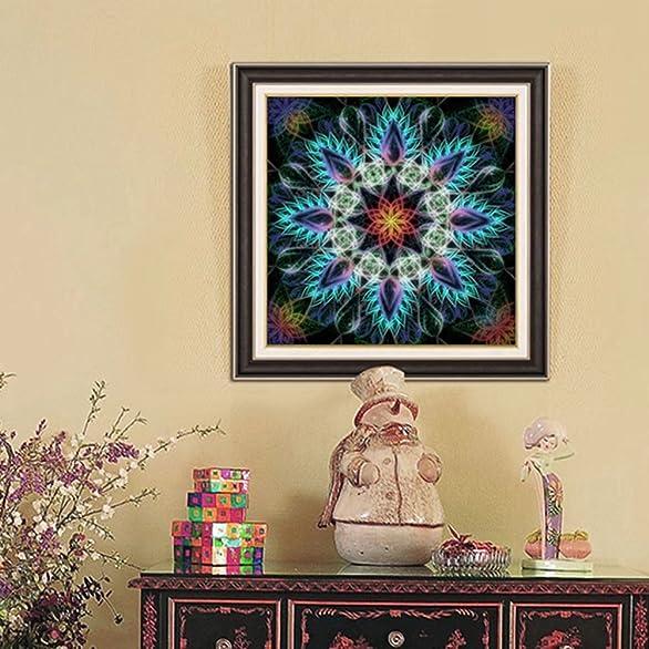 Amazon.com: DIY Flower Mandala Diamond Painting By Number Cross ...