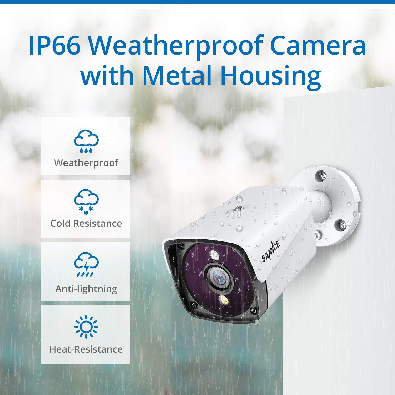 Au/ßen Sicherheit Innen Sannce 5MP PoE /Überwachungskamera Set mit 4X 5MP IP Wasserfeste Kamera und 4CH 1TB Festplatte NVR POE /Überwachungssystem f/ür Haus