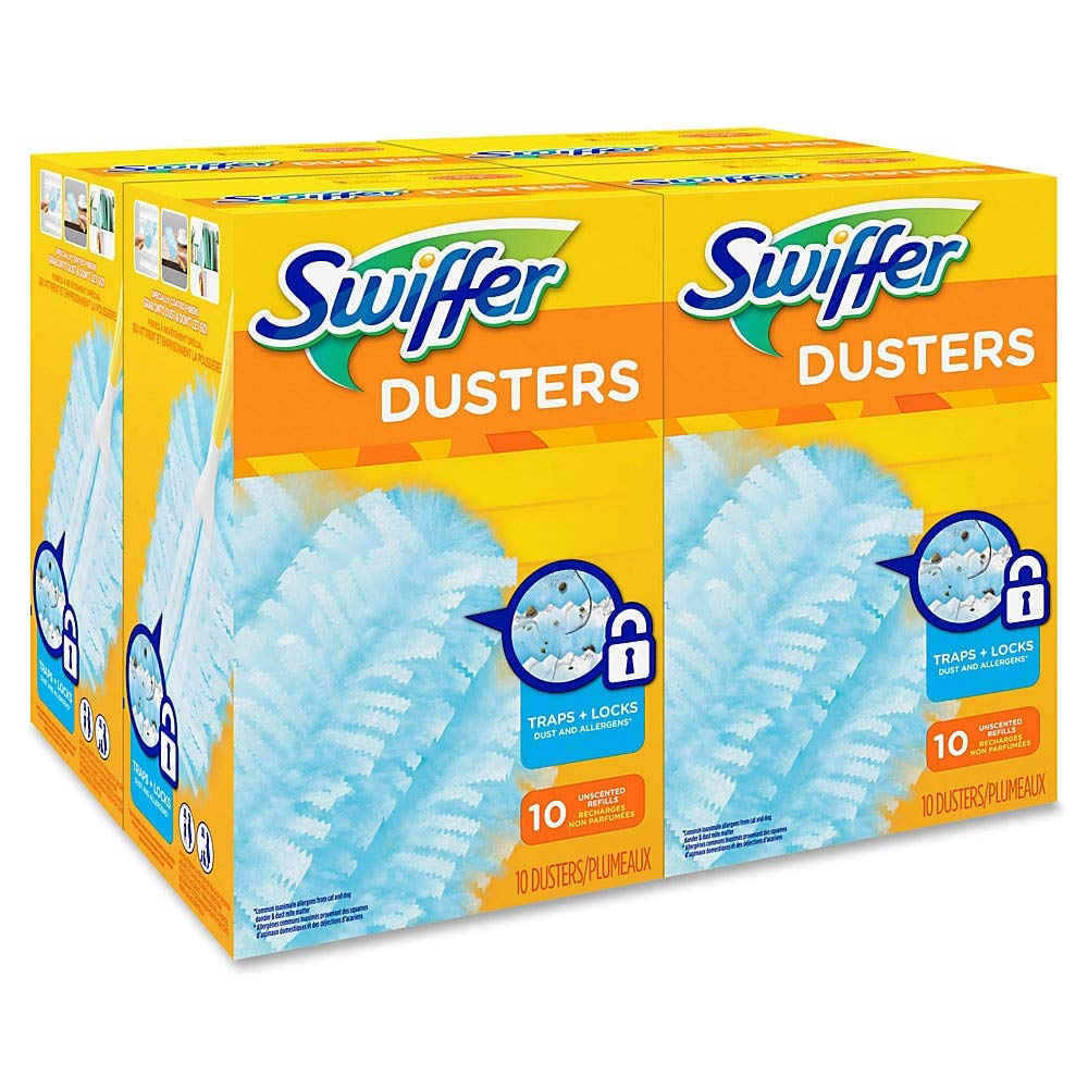 Swiffer PGC 21459CT 21459 Refill Duster, Dust Lock Fiber, Unscented, Light Blue (Pack of 40) by Swiffer