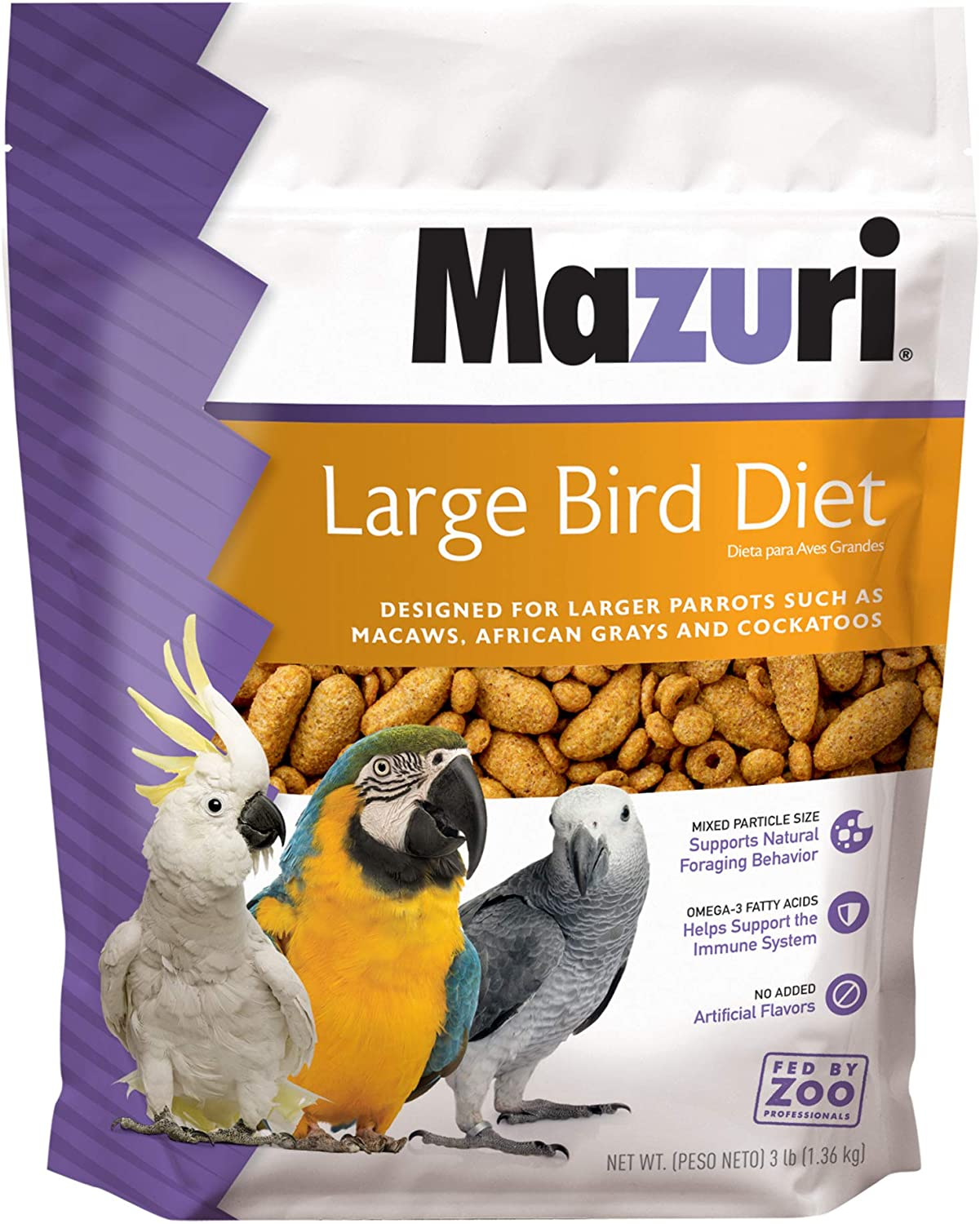 Mazuri | Nutritionally Complete Food for Large Birds | 3 Pound (3 lb.) Bag
