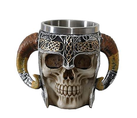 Amazon.com: Otartu Viking Skull - Tazas de café y cerveza ...