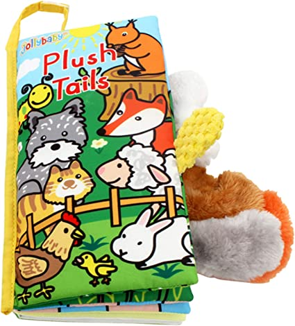 Animal Tails Cloth Book Soft Development Books Learn Education Toy For Kids Baby