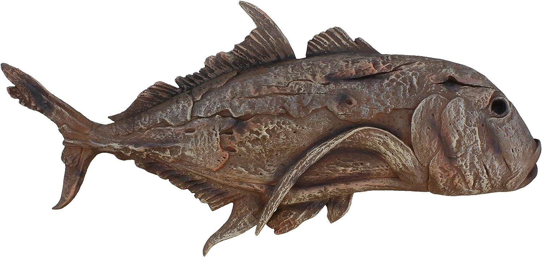 RWI Driftwood Saltwater Fish Wall Decor Plaque Coastal Ocean Art
