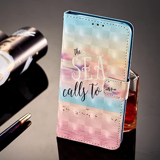Amazon.com : Firefish Galaxy S8 Plus Case, Pu Leather Card Holder Full Protective Lightweight Anti Sliding Case with Magnetic Wrist Strap Kickstand Flip ...
