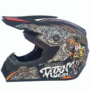 CHEYAL Adulto Motocross Casco De La Motocicleta Y Adult MX Motocross (Guantes, Gafas,