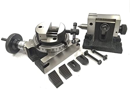 "Rotary Table 4 Slot for Milling Machine M6 clamp kit 100 mm 4/"" Inches"