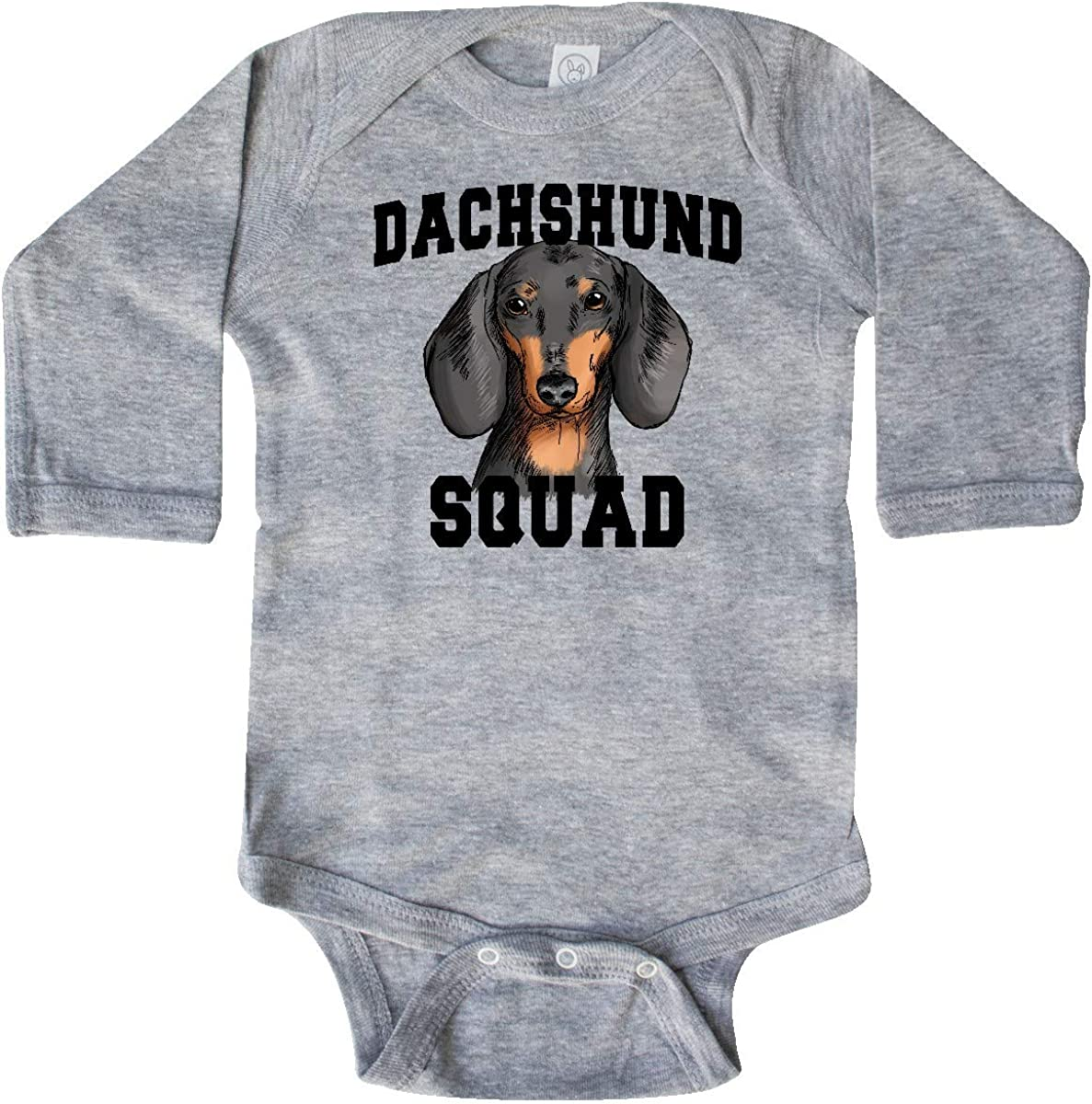 inktastic Dog Dachshund Squad Long Sleeve Creeper