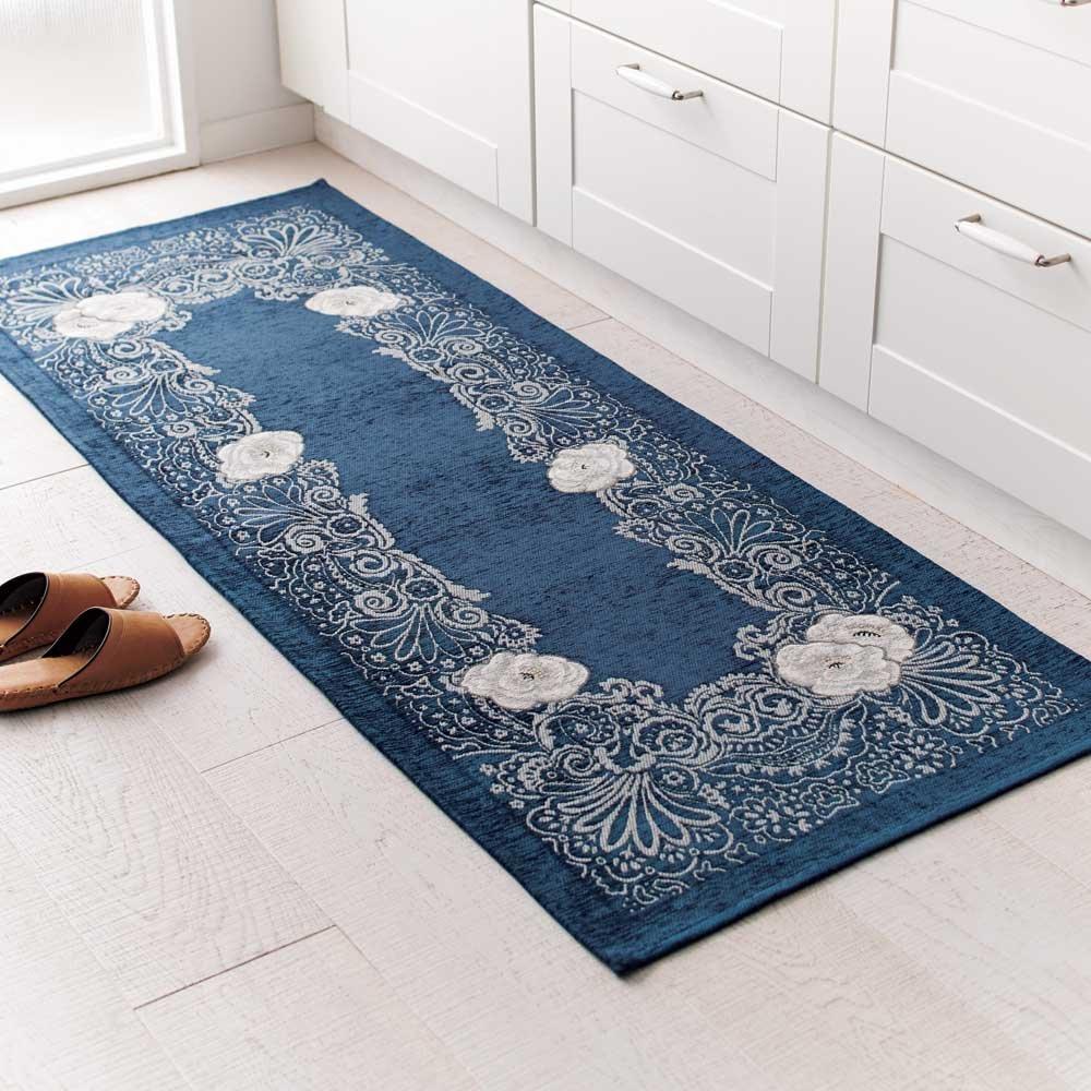 約65×240cm(Sahara ゴブラン織マット) H50716(サイズはありません イ:ブルー)  イ:ブルー B07MLNK1WR