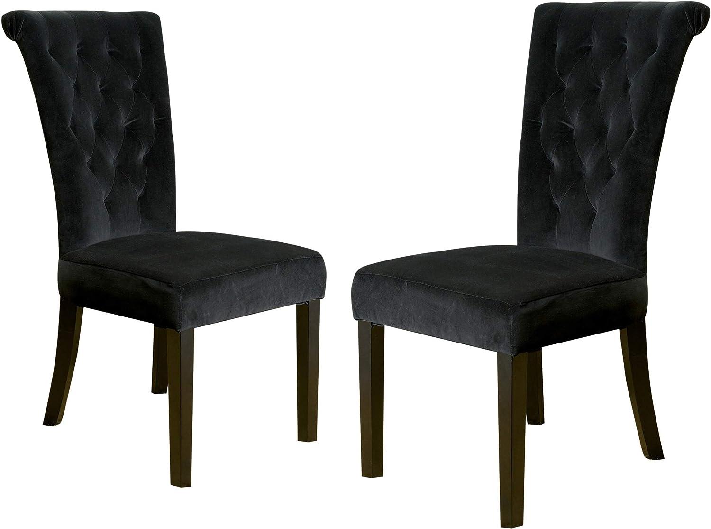 Christopher Knight Home Venetian Velvet Dining Chair, Black