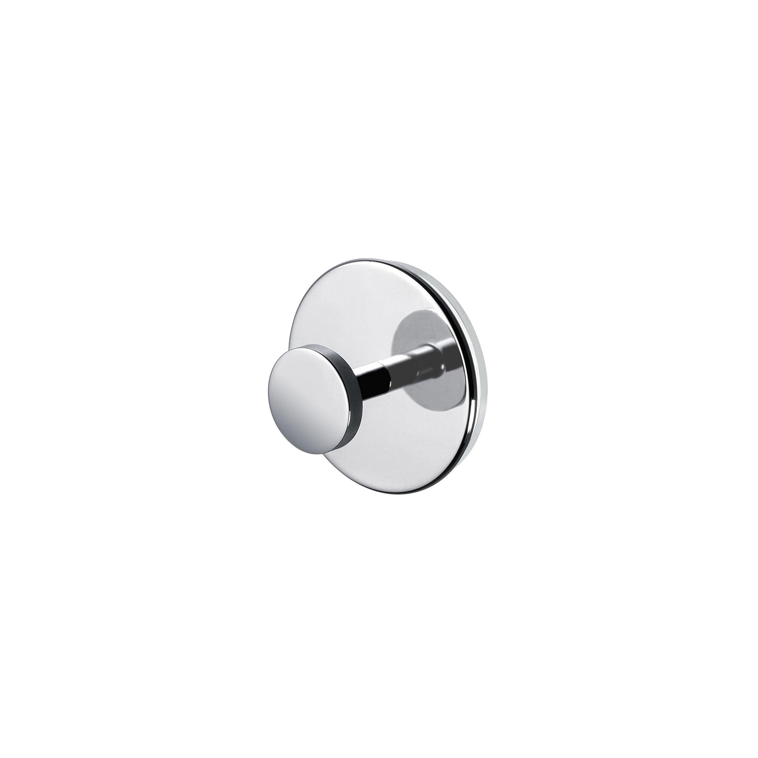 W-Luxury Brass Single Towel Robe Hook/Hanger Suction Cup for Bathroom, Ktchen (Polished Chrome)