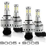 9005+9006 Combo 200W 20000LM CREE LED Headlight Kit High & Low Beam Light Bulbs 3 Year Warranty