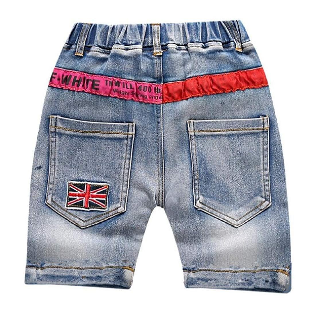 Wofupowga Boys Fashion Cute Jean Striped Summer Denim Short