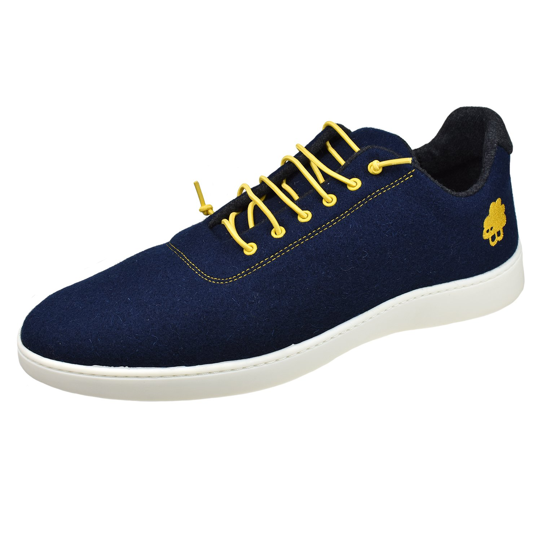 Baabuk Urban Wooler Sneaker,Dark Blue/Yellow,EU 37 M