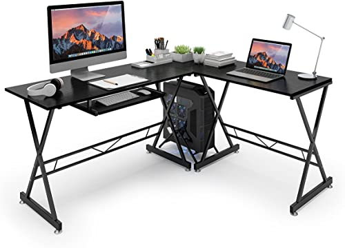 Azmkoo L-Shaped Desk Corner Home Office Desk