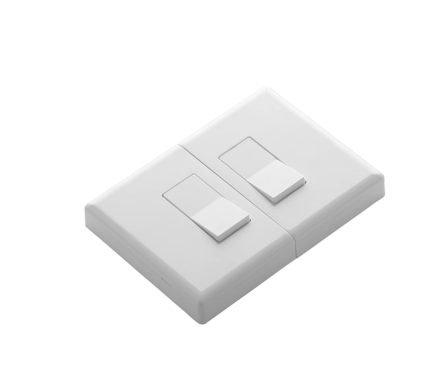 Home Automation Lighting, ZWAVE Plus Smart Switch by Ecolink, Lighting Control, White Dual Rocker Style Light Switch Design (PN - DDLS2-ZWAVE5)