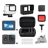 Deyard 25 in 1 GoPro Hero 5 Zubehör-Kit mit Shockproof Small Case Bundle für GoPro Hero 5 Action-Kamera