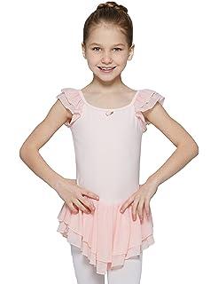 fdcafa32d7a3 Amazon.com  MdnMd Dancewear Leotard for Girls with Long Sleeve ...