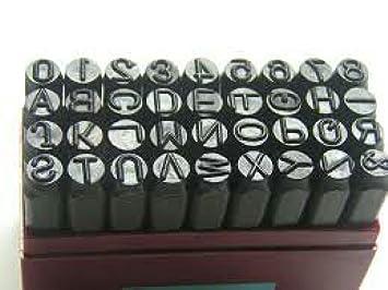 Keshav Letter Punch Set of 36 PCS - 8 MM