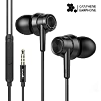 Wired Earphones, BlitzWolf Graphene Earphone Stereo HiFi Noise Cancelling in-Ear Earbuds with Microphone & Volume Control for iPhone Android iPad iPod Tablet(3.5mm Jack)
