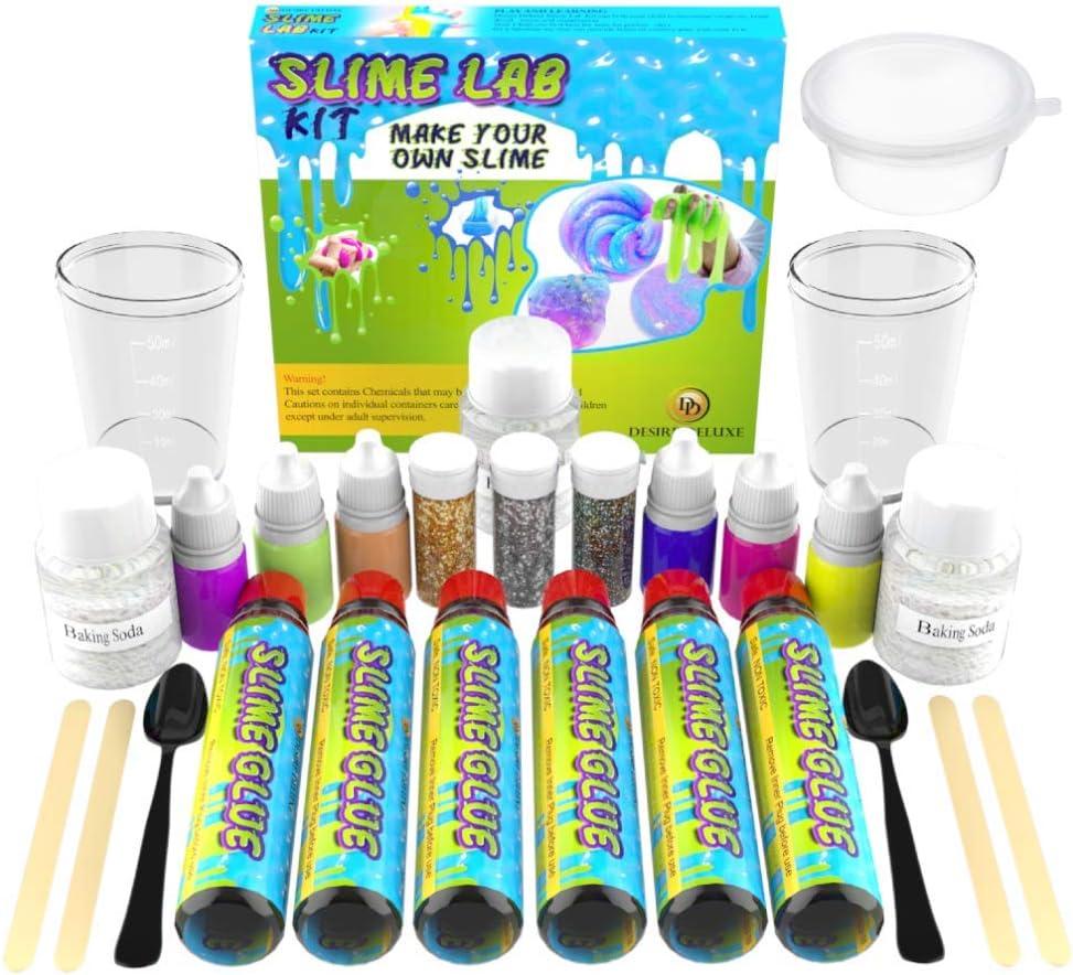 magischer Schleim-Aktivator Schleim-Glitzerstreuer Unser Schleim-Set enthält alle Slime Zutaten Sc Dieses Set zum Selbermachen von Schleim für Mädchen und Jungen enthält: PVA-Kleber Deluxe-Schleimherstellungs-Set Glow im Dunkeln die Kinder brauchen