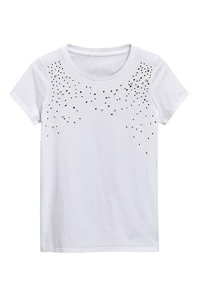 next Mujer Camiseta Adornada con Perlas