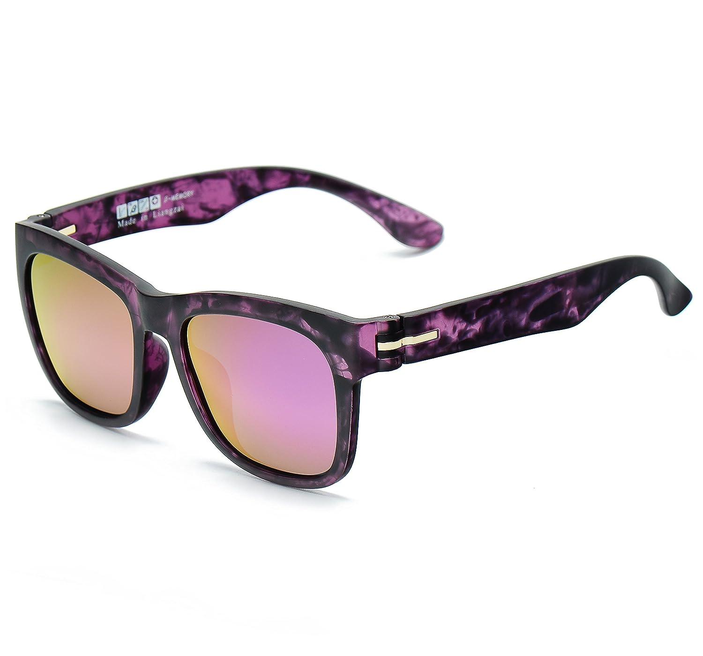 LUENX Wayfarer Polarized Sunglasses for Men & Women with Eyeglasses Case - UV 400