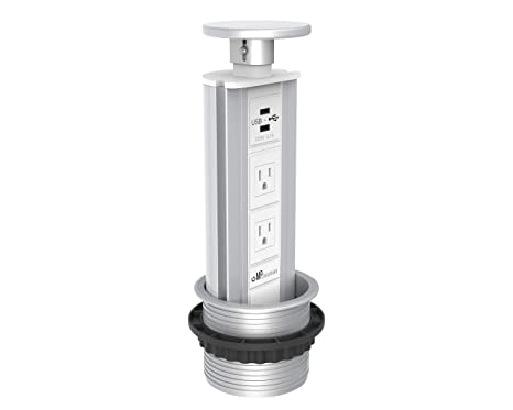 Remarkable Pop Pull Up Power Point Outlet With Usb Charging Us Socket Retractable Hidden Recessed For Kitchen Bench Top Office Home Charging Station V2Gsw Us Inzonedesignstudio Interior Chair Design Inzonedesignstudiocom