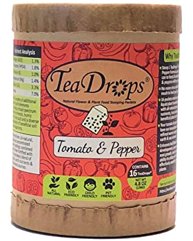 Best Organic Fertilizers for Indoor Plants, Outdoor Plants, Raised Beds, and Nurseries: TeaDrops Premium Organic Vegetable Pepper & Tomato Fertilizer