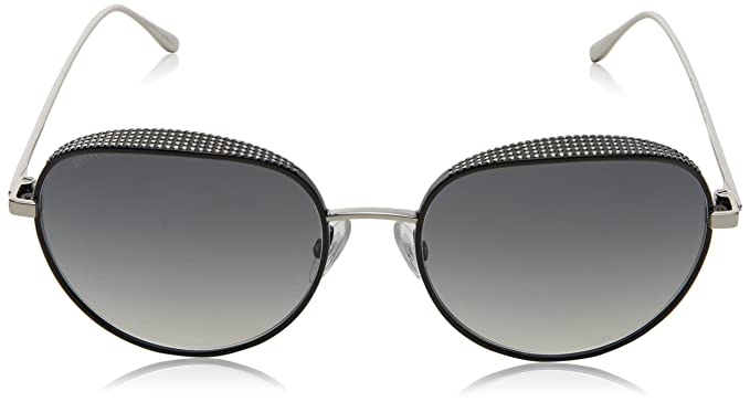 c1d5cee88d3 Amazon.com  Jimmy Choo ELLO S JINIC (Silver - Black with Grey Gradient  lenses)  Clothing