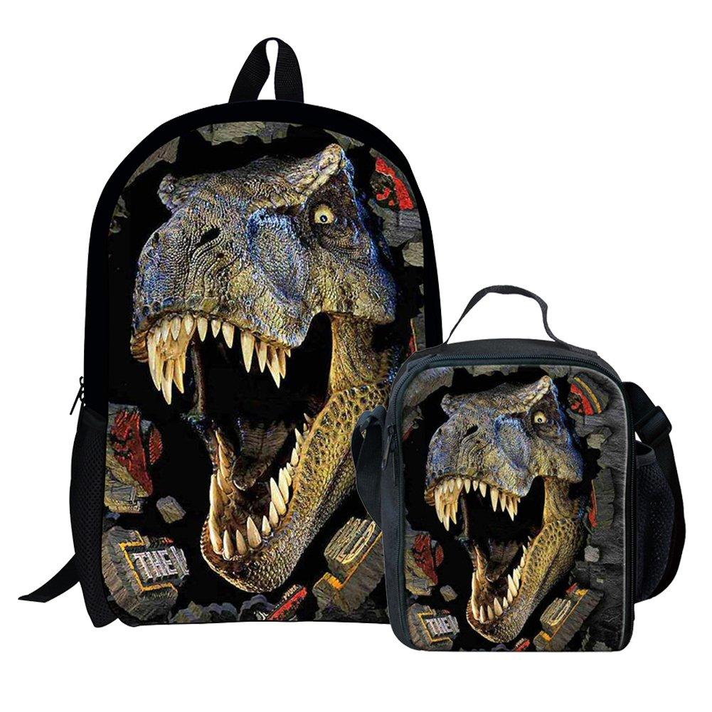 Dinosaur Backpack for Boys School Bag for Teens Polyester Book bag Girl Children