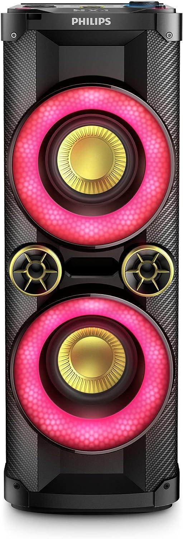 Philips NTX400 - Sistema de altavoces con Bluetooth (260000 de Luces LED, puerto USB, NFC), color negro