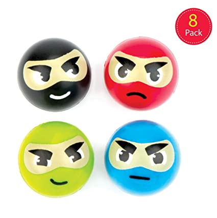 Amazon.com: Baker Ross Ninja Jet Bouncy Balls (Pack of 8 ...