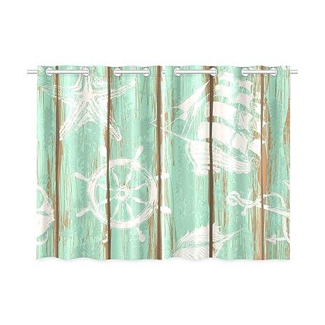 Cortinas opacas para ventanas, antiguas juntas, ancla, ruedas, estrellas, dormitorio,